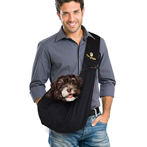 Furry Fido Black Classic Pet Sling