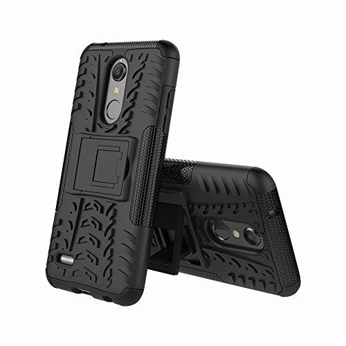 """XMTN LG K11,LG K10 (2018) 5.3"""" Custodia,2 in 1 Silicone TPU e Hard PC Case Cover Dual Armatura Bumper Case Telefono Protettiva Custodia per LG K11,LG K10 (2018) Smartphone (Nero)"""