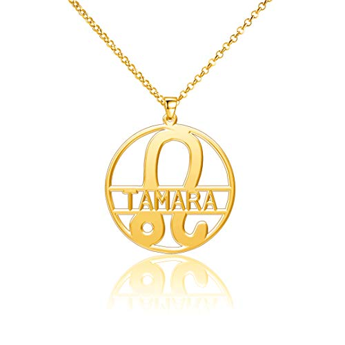 LoEnMe Jewelry Gold Plated Leo Personalized Womens Name Squash Jcpenney Diffuser Initial Custom Tamara Necklaces