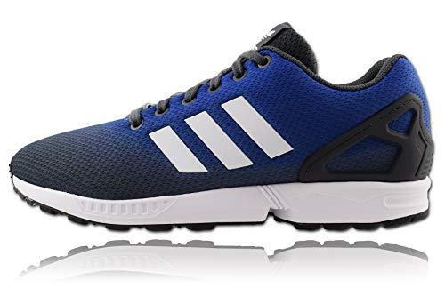adidas ZX Flux, Scarpe da Ginnastica Uomo, Grey Six/Ftwr White/Blue, 42 2/3 EU