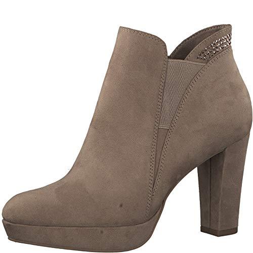 Tamaris Mujer Ankle Boots 1-1-25323, señora Botas,Botas de Media caña,Botines,botín,Tobillo Alto,Plantilla Desmontable,Antelope,40 EU / 6.5 UK (Ropa)