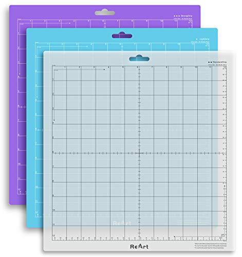 "Cutting Mat Variety Suit for Silhouette Cameo 3 Packs 12"" x 12"" - Strong Grip, Standard Grip, Light Grip Adhesive Cutting Mat Replacement Set Matts Vinyl Craft"