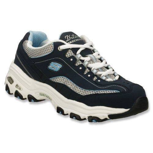 Skechers D'Lites Centennial Womens Sneakers Navy/White/Light Blue 8 W