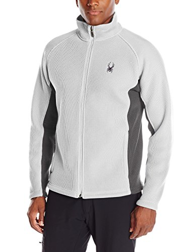 Spyder Men's Foremost Full Zip Heavy Weight Core Sweater, Cirrus/Polar, Small