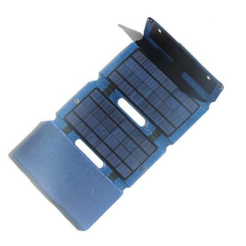 WNTHBJ Draagbare vouwen 12,5 W zonne-oplader, doe-het-zelf zonnecollector, voor buiten, zonne-energiebank op zonne-energie, familiereis (1 stuks)