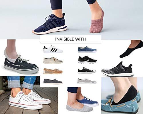 LouKeith Womens No Show Socks Low Cut Thin Liner Non Slip Flat Boat Casual Socks