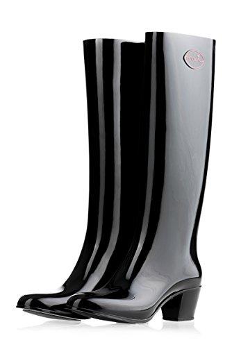 MEI - Botas de agua Mujer , color negro, talla 38 EU