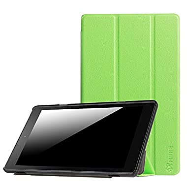 Fintie Slim Shell Case for Amazon Fire HD 8 (Previous Generation - 6th) 2016 release, Super Slim Lightweight Standing Cover with Auto Wake / Sleep, Green