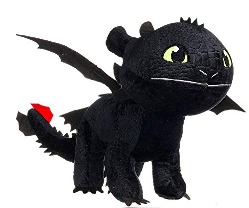 Dreamworks Animation Enorme Peluche XXL Dragons SDENTATO Furia Buia Gigante Quasi 1 Metro Originale Dragon Trainer