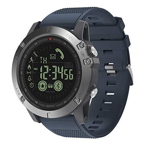 Liamostee Zeblaze Vibe 3-IP68 reloj inteligente bluetooth multifunción para exteriores, notificación de mensajes, conteo de frecuencia cardíaca, conteo de pasos, reloj deportivo