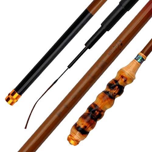 Sport Canna da Pesca in bambù, Strumento da Pesca in Fibra di Carbonio Ultra Leggera Ultra-fine 37 Portatile Telescopico Regolabile da 3,6-6,3 Metri (Size : 3.6)
