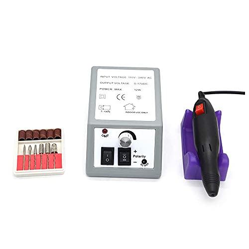 Electz Pulidor de uñas Removedor de Clavos Profesional Máquina pulidora Máquina de pulsación de uñas eléctricas Kit para manicura acrílico Pedicura Herramientas de uñas