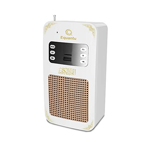 Perfect Wireless Speakers Quran Player Portable Bluetooth Speaker Arabic Translator Mp3 Portable Quran Player with USB Jack Speaker Camcorder Action Vidio Accessories (Color : White)