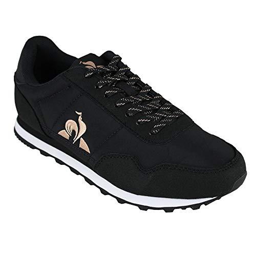 Le Coq Sportif Astra W Sport, Zapatillas Mujer, Black/Rose Gold, 39 EU