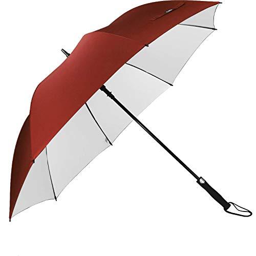 G4Free 62 Inch Sombrilla de Golf Recubrimiento de Plata Sombrilla de Protección Solar Toldo Grande a Prueba de Viento Paraguas Automático a Prueba de Viento para Hombres y Mujeres