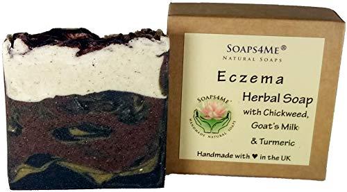 Preisvergleich Produktbild SOAPS4ME Ekzeme,  natürliche handgefertigte Seife / Chickweed / Ziegenmilch / Kurkuma / Kaolinton / Sandelholz / Helichrysum