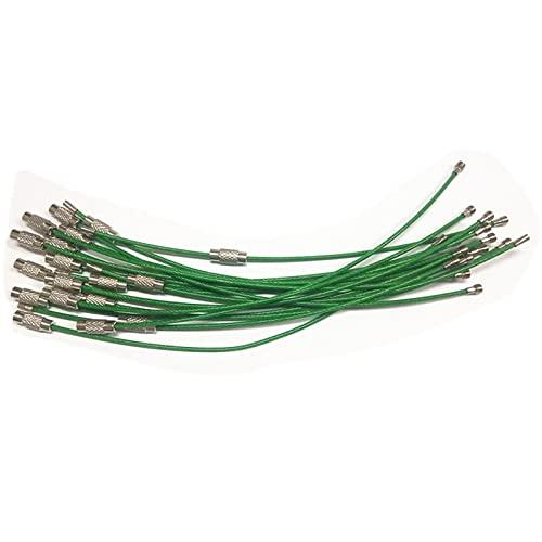 jiji Llavero de 1,5 mm, 10 / 50 unidades EDC Llavero cable cable hebilla de cable cerradura gadget anilla llave de acero inoxidable accesorios de camping para llaves de camping