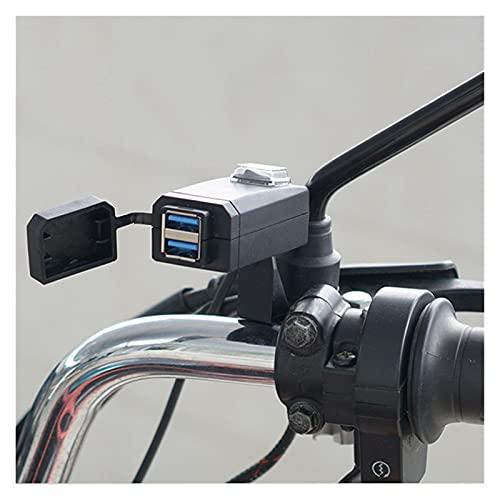 linger QC3.0 USB Cargador de Motocicleta Moto Equipo de Moto Dual USB Cambio rápido 12V Adaptador de alimentación Ajuste para iPhone Samsung Huawei