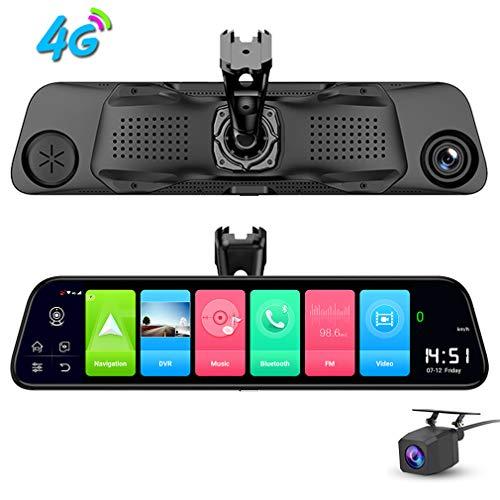 ShiZhen D50 12 inch Full Screen 4G Touch IPS Special Car Dash Cam Rear View Android 8.1 Mirror with WiFi GPS Navi Bluetooth Music Dual Lens FHD 1080P