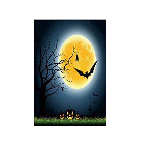 jieGorge Halloween Bat Pumpkin Witch Garden Banner Home Decoration Banner 30x45cm , Home Decor for Halloween Day (K)