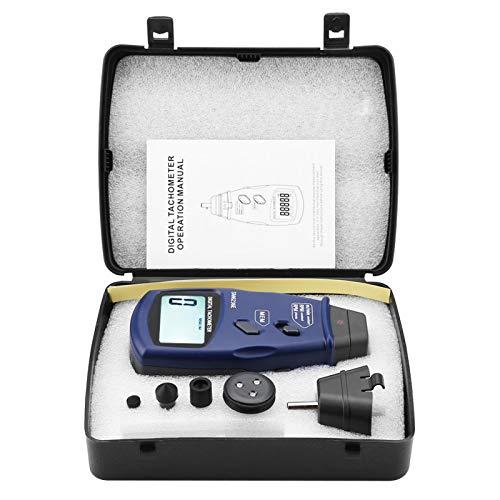 Tacómetro Digital, SM6236E Pantalla LCD Digital Tacómetro de Contacto portátil 5 dígitos 18 mm Probador de medidor de rotación de tacómetro