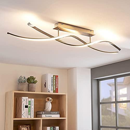 Lindby LED Deckenleuchte 'Kati' dimmbar (Modern) in Alu aus Aluminium u.a. für Wohnzimmer & Esszimmer (1 flammig, A+, inkl. Leuchtmittel) - Lampe, LED-Deckenlampe, Deckenlampe, Wohnzimmerlampe