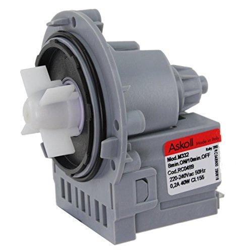 Spares2go unidad de bomba de drenaje para Samsung lavadora (M332, 40W)