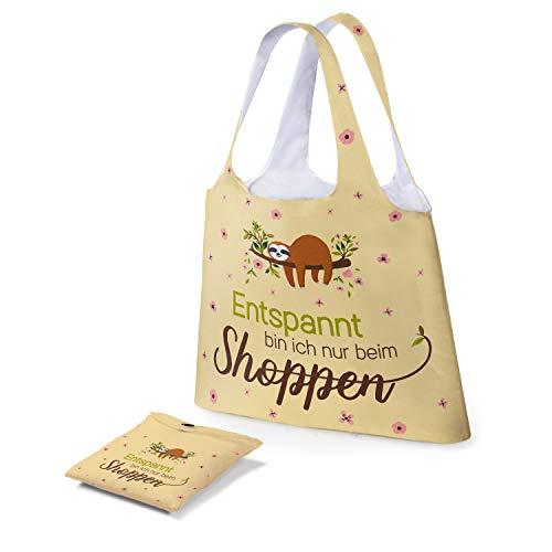 Preis am Stiel Tasche - Entspannt Bin ich nur beim shoppen   Einkaufstasche faltbar   Schultertasche Damen   Mädchen Taschen Kinder   Tasche mit Aufdruck   Shopping Bag   Geschenk für Frauen