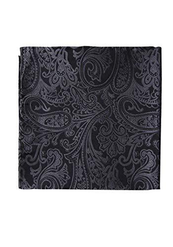 OLYMP Einstecktuch aus reiner Seide Paisleymuster schwarz