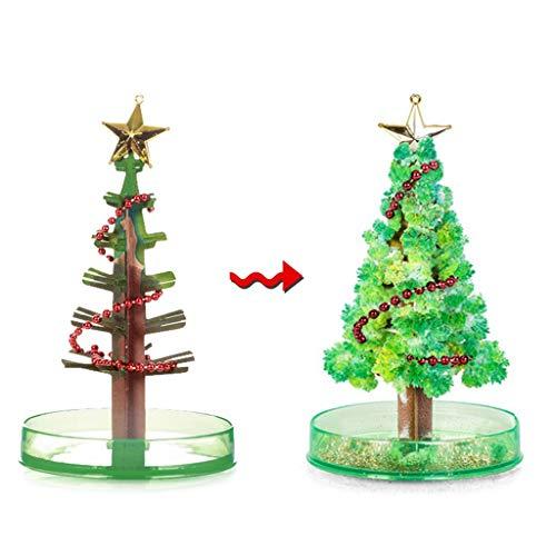Sitonelectic Weihnachtsdekoration, magisch wachsender Weihnachtsbaum, buntes Weihnachtsgeschenk/Spielzeug grün