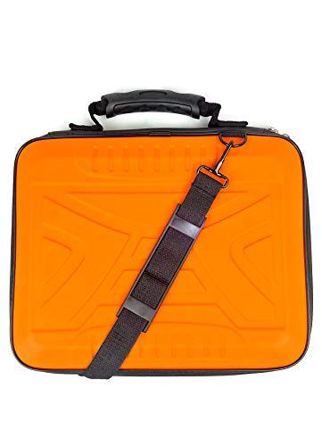 Zipy Funda para Ordenadores Portátiles Maletines para Tablets Laptop hasta 13,3 Pulgadas Rígida Protección Total. (Orange Fluor Laptop)