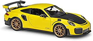 LENO P.O.R.S.C.H.E 911 GT2 RS Sports Car Diecast Alloy Car Model | High Simulation | Scale 1:24 |Colour Yellow
