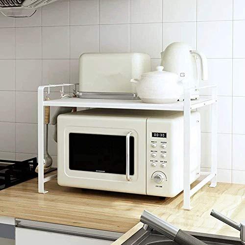 BECCYYLY Horno de microondas Microondas del Horno de microondas Estante de Almacenamiento de 2 Niveles Guardar Espacio Duradero Estantería Simple Kitchen Baker's Rack Shelf Stand Rejilla del Horno