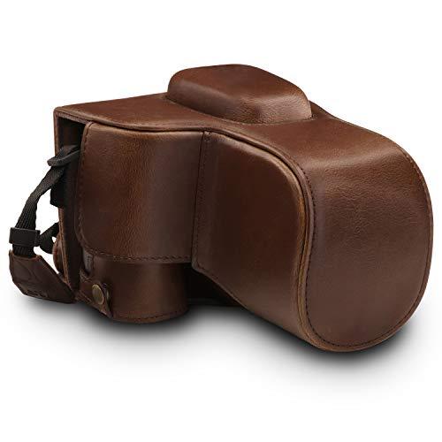 MegaGear Ever Ready - Funda para Nikon D3500 (de Cuero, con Correa) Color marrón Oscuro