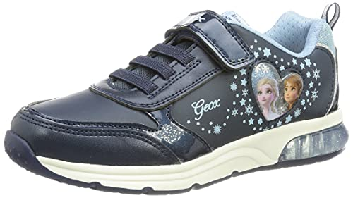 Geox J SPACECLUB Girl B, Shoes, Navy/Sky, 31 EU