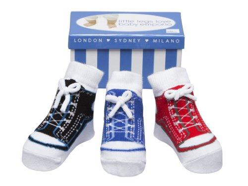 Baby Emporio 3 pares de calcetines para bebé niño - Suelas antideslizantes...