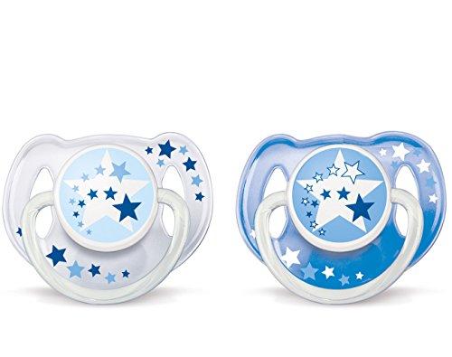 Philips AVENT Chupete nocturno sin BPA, Azul, 6-18 meses