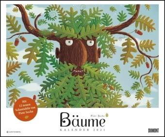 Piotr Socha: Bäume - Kalender 2021 - DuMont-Verlag - Kinderkalender - Wandkalender - 59 cm x 49 cm