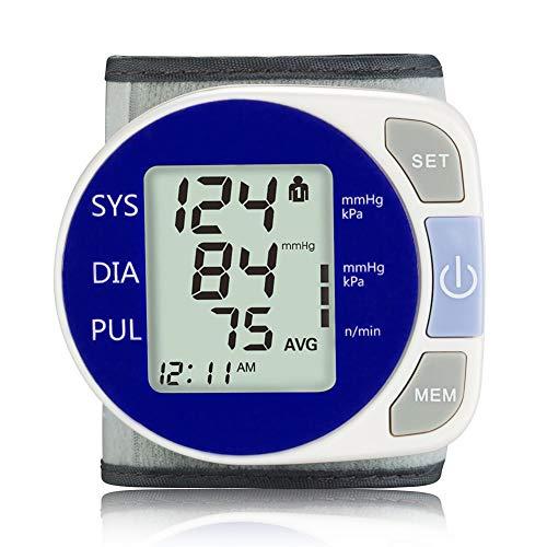 AFANG Digitale Misuratore Pressione Polso Sfigmomanometro, Automatico LCD Display Funzione Memoria Apparecchio Misura Pressione Sanguigna Pulsazione, Monitor Pressione Arteriosa