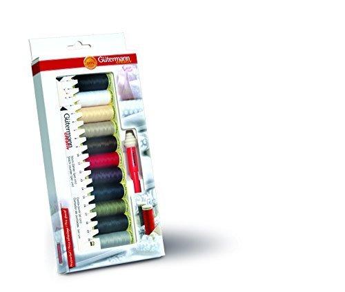 Gutermann 734578 - Kit inicial con hilo de coser , medidor manual y desgarrador de costuras, tonos básicos