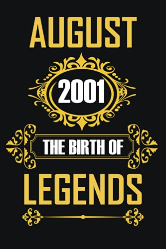 August 2001 The Birth Of Legends: Happy 20Th Birthday 20 Years Old Gift...