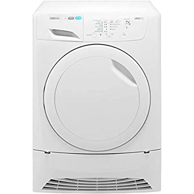 Zanussi ZDC8202PZ Freestanding B Rated Condenser Tumble Dryer - White