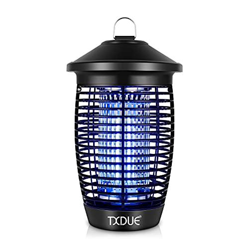 TXDUE Bug Zapper for Outdoor and Indoor, 20W 4000V Insect Killer, Waterproof Electronic Mosquito Zapper for Home, Garden, Patio Black