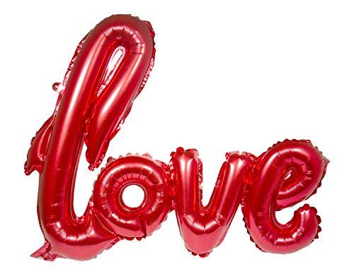 Folat 29295 Love - Globo de plástico, Color Rojo