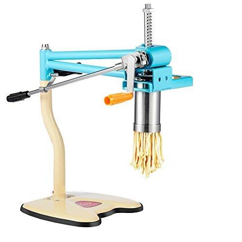 CGOLDENWALL 4 Diafragma Huishoudelijke Handleiding Noodle Pasta Machine RVS Deeg Drukmachine Presser Multifunctionele Dumpling Wonton Maker Ramen Udon Machine ronde noedel:1mm/2mm/3mm en platte noedel:2x6mm