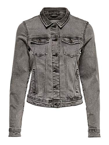 ONLY NOS Onltia Jacket BB Crf4241 Noos Giacca di Jeans, Grey Denim, 44 Donna