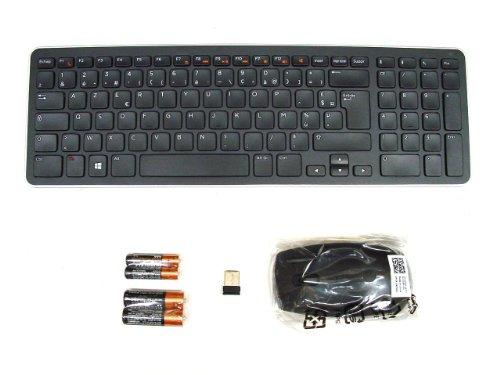 Originele originele DELL KM713 draadloze draadloze SLIM en stijlvolle toetsenbord & muis set combo-set, AZERTY lay-out voor FRANCH FRANCAIS taal, Dell P/N : 4P5DD , R0C5N , compleet met USB-ontvanger en 4 x Duracell batterijen
