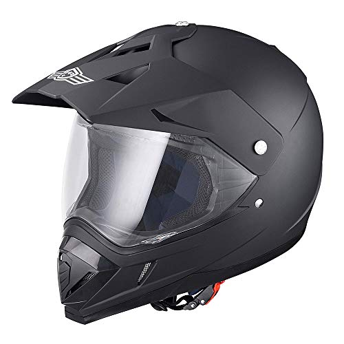 AHR H-VEN30 DOT Full Face Motorcycle Helmet Dirt Bike Motocross PC Visor Lightweight ABS Motorbike Touring Racing XL
