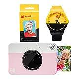 Kodak PRINTOMATIC Paquete de reloj de cámara de impresión instantánea (rosa)