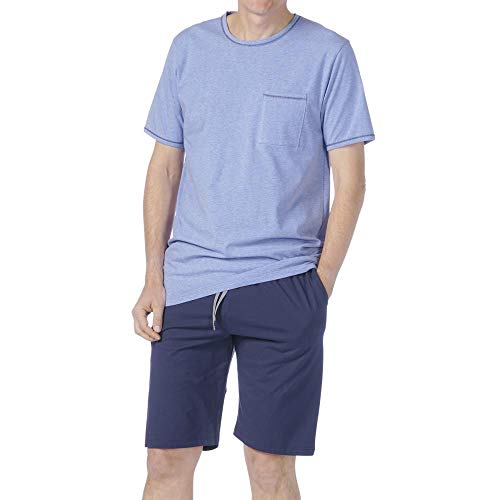 comazo earth Herren Schlaf-Shorty Bio-Baumwolle, Jeans, Gr. XL